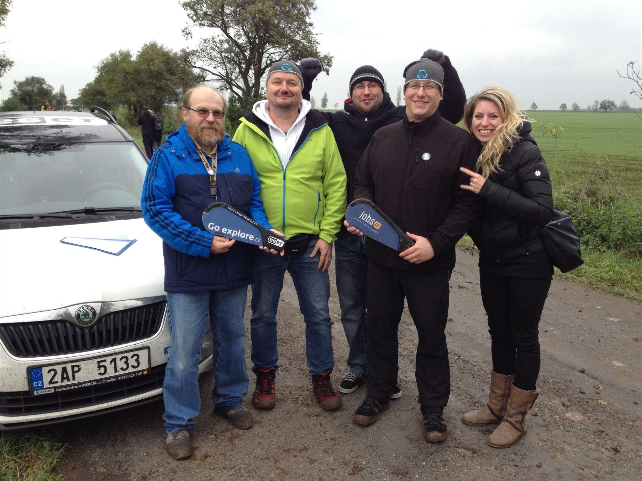 Mobilní tým stratocachingu - Ottik5, Malin.cz a Mimaci