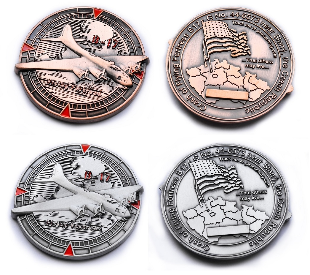 Flying Fortress Geocoin