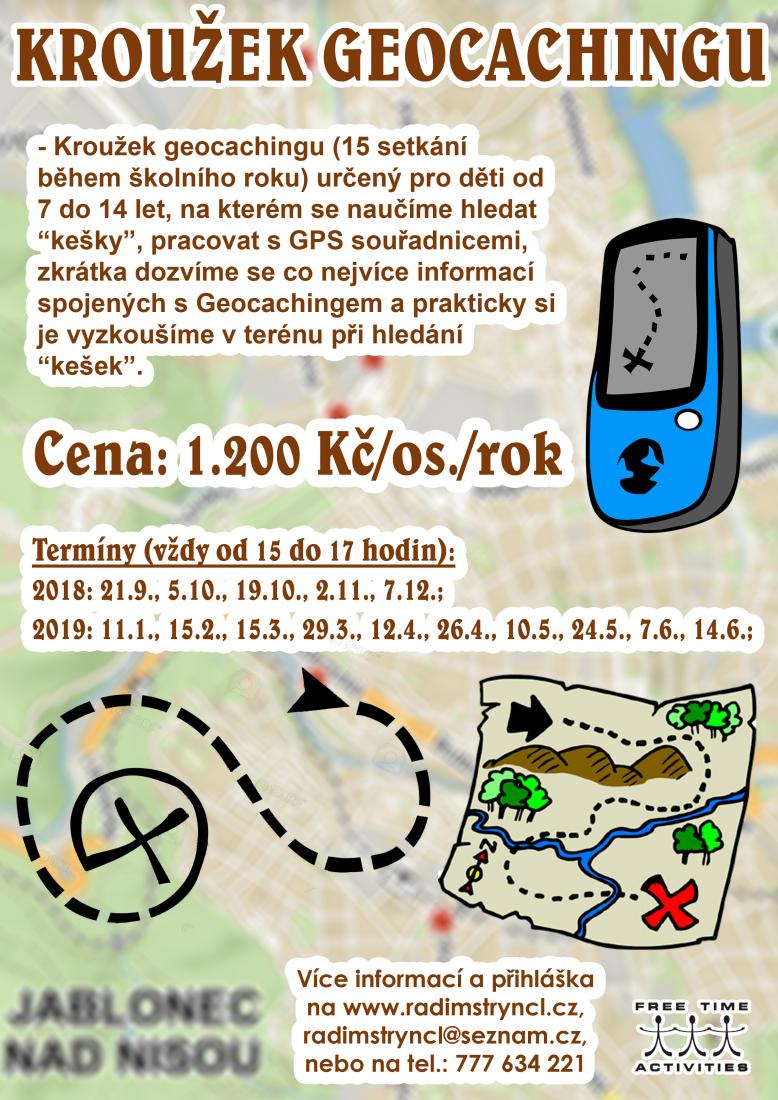 (NOVÝ) Kroužek geocachingu pro holky a kluky od 7 do 14 let v Jablonci nad Nisou