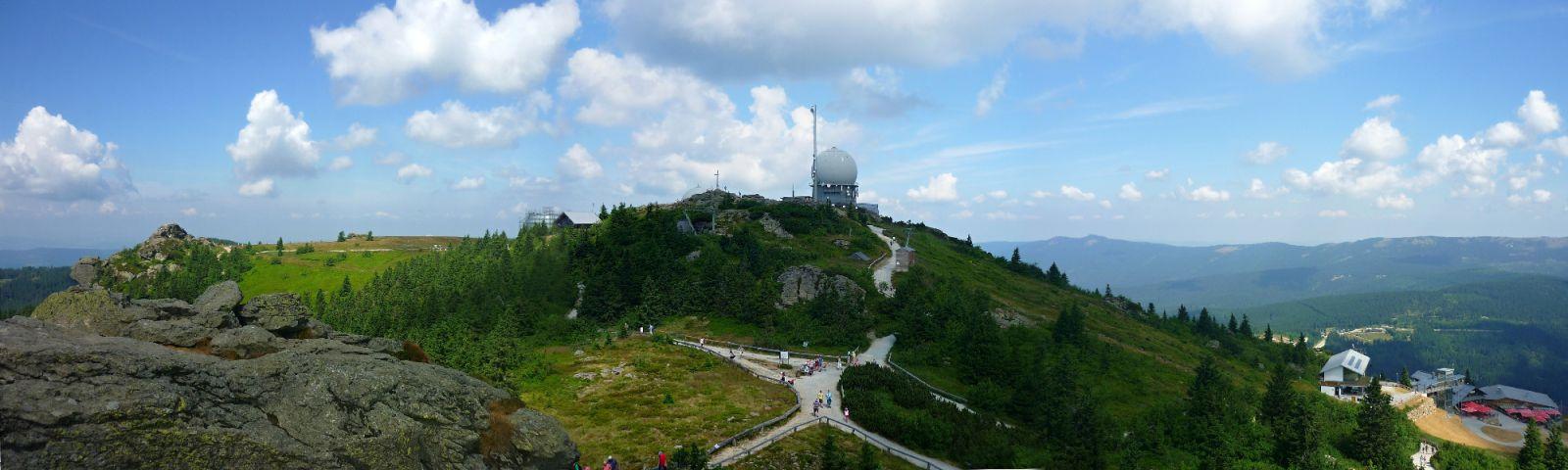 Großer Arber - červenec 2013 panorama