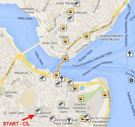 Istanbul - mapa keší