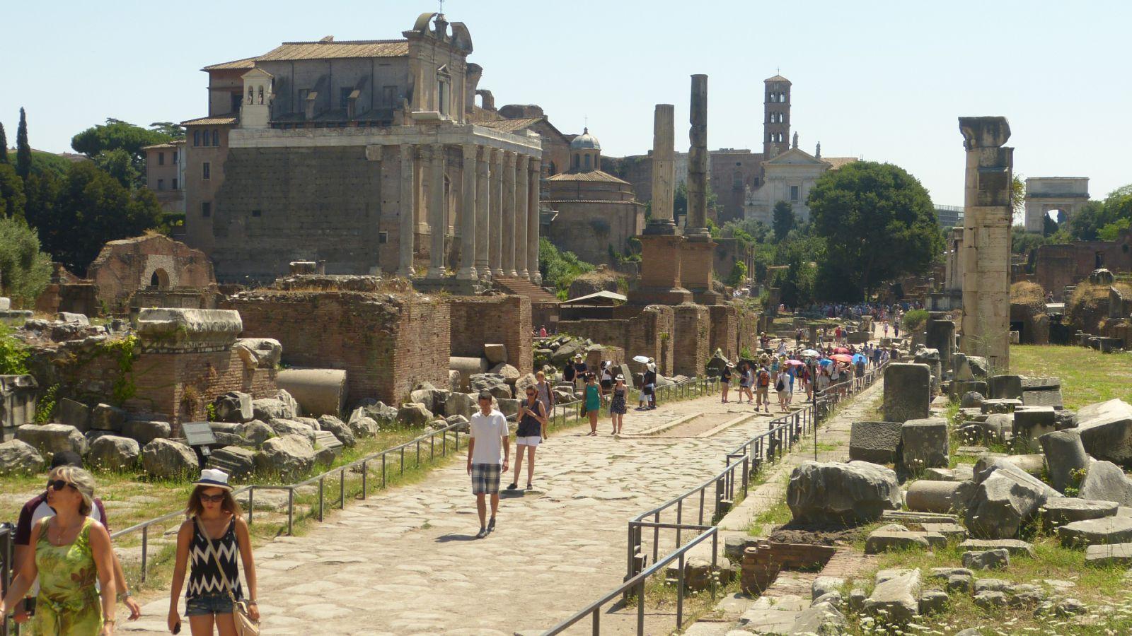 Forum Romanum - západní část
