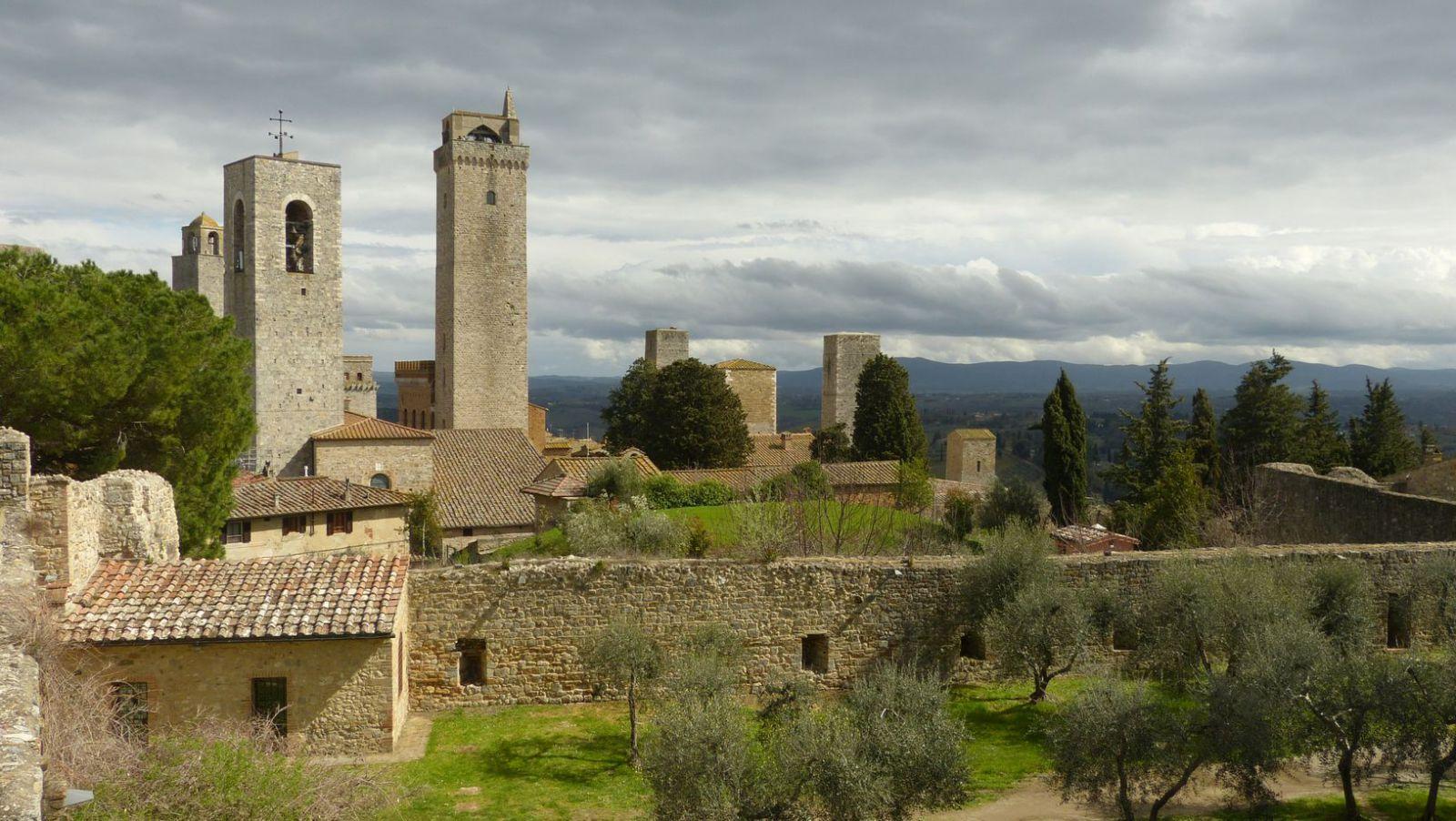 San Gimignano - pohled z vyhlídky