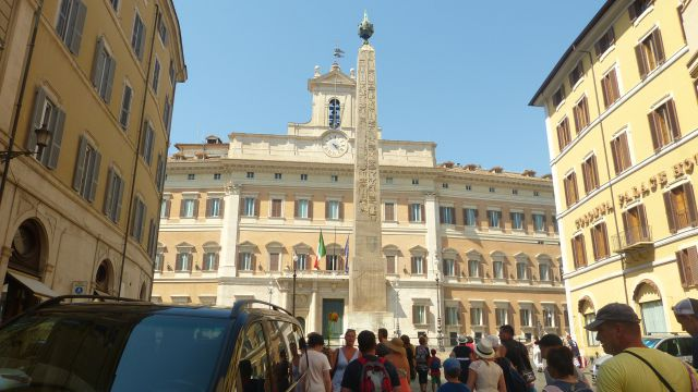 Obelisk na Piazza di Montecitorio