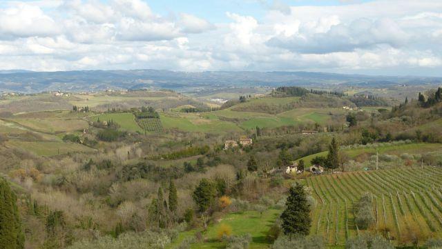 Toskánsko - krajina v okolí San Gimignano