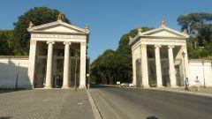 Vstup do parku Villa Borghese