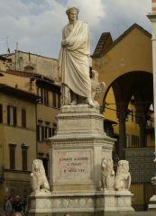 Florencie - Dante Alighieri - socha
