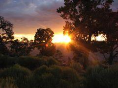 Západ slunce nad Grand Canyon