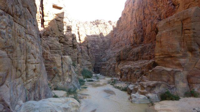 Kaňon řeky Mujib