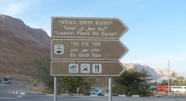 Ukazatel k nejníže položenému místu na Zemi