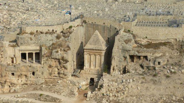 Jeruzalém - hrobky v údolí Kidron