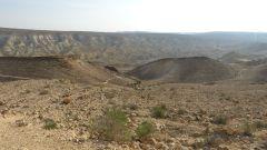 Negevská poušť v jižním Izraeli