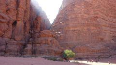 Wadi Rum - kaňon Khazali - vstup