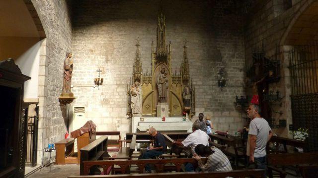 Barcelona - Santa Ana - interiér kostela