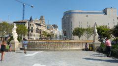 Barcelona - Plaça Catalunya - fontána