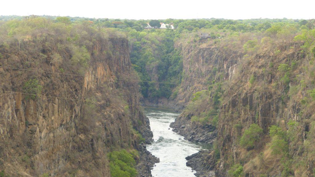 Řeka Zambezi - kaňon s vyhlídkou