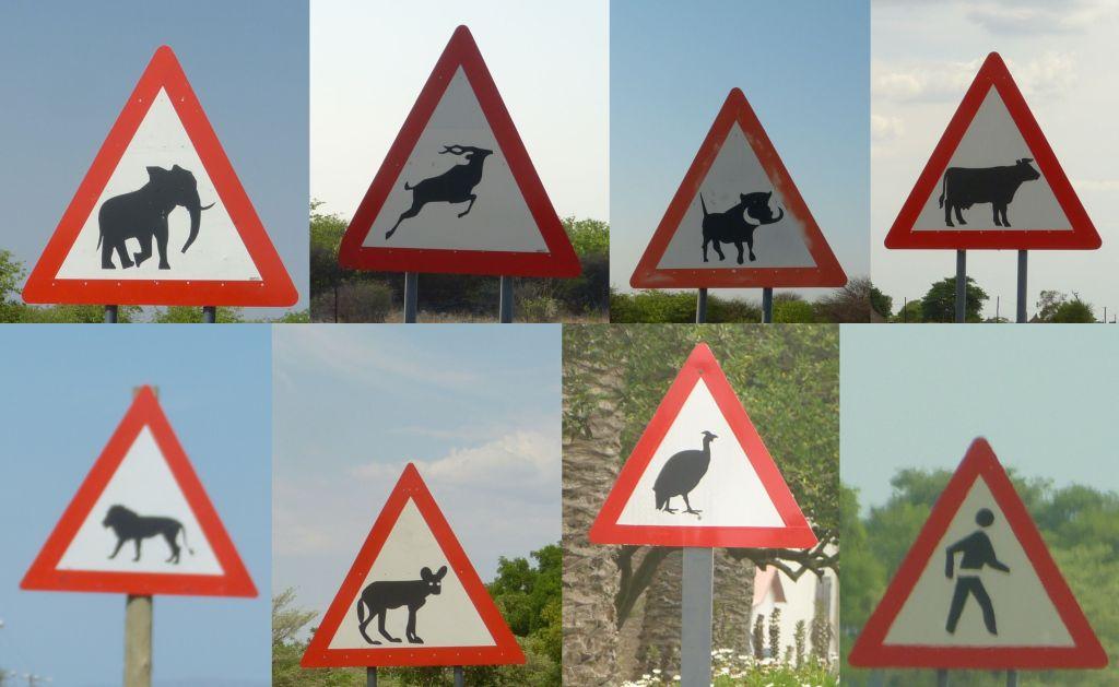 Výstražné značky v jižní Africe