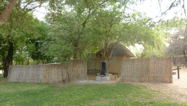 Kempovací místo v kempu Namushasha