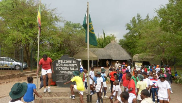 Victoria Falls - Viktoriiny vodopády - vstup