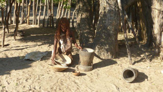 Mbunza Living Museum - výroba mouky