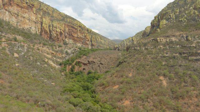 Pěnovcový vodopád v Dračích horách