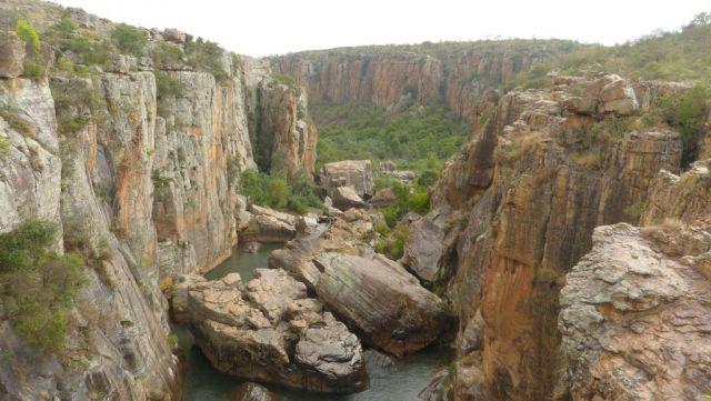 Bourke's Luck Potholes - řeka Blyde po soutoku