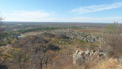Francistown - pohled do krajiny