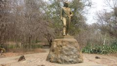 Livingstone - socha v Zimbabwe