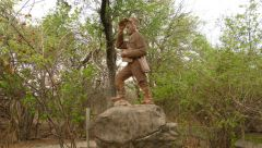 Livingstone - socha v Zambii