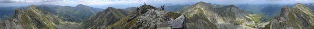 13 07 31 12.28.56 Panorama hřebenu Roháčů