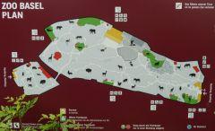 ZOO Basilej - mapa