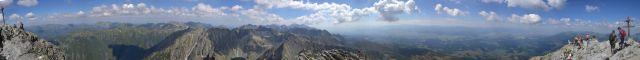 13 08 03 10.55.20 Panorama z vrcholu Kriváně