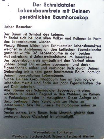 Lebensbaumkreis - infotabule
