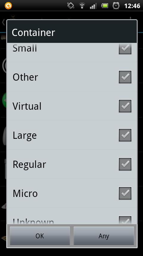 Tvoření PQ   výběr keší podle velikosti