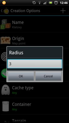 Tvoření PQ   radius