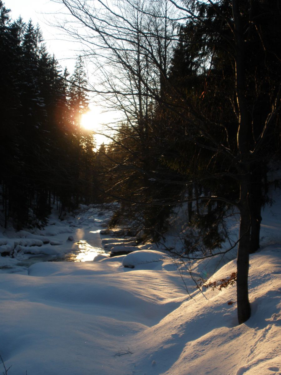 13 03 16 17.28.35 Údolí Mumlavy v zapadajícím slunci