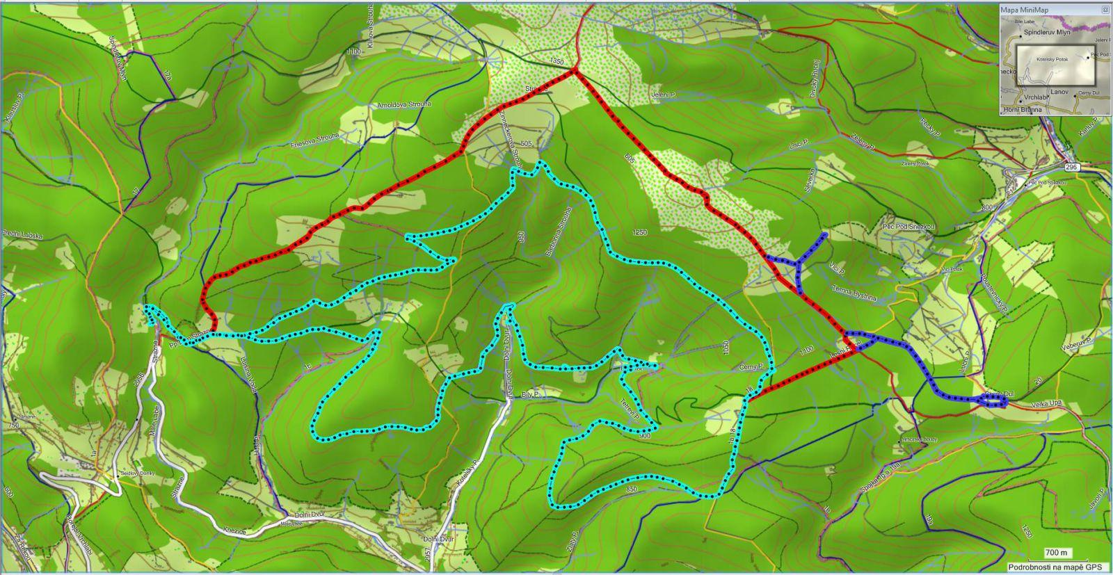 Krkonoše   trasa