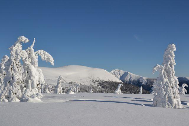 12 01 27 10.36.08 Výhled Na Studničnou horu A Sněžku Od chalupy Na Rozcestí