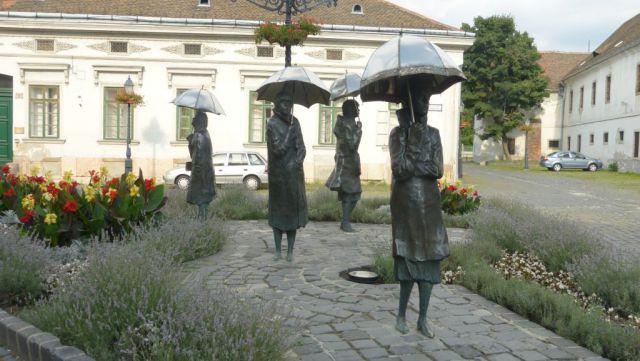 Budapešť - sousoší v čtvrti Óbuda
