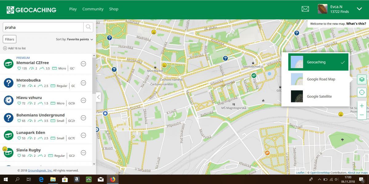 Nova Mapa Cache Obecna Diskuze Geocaching Cz